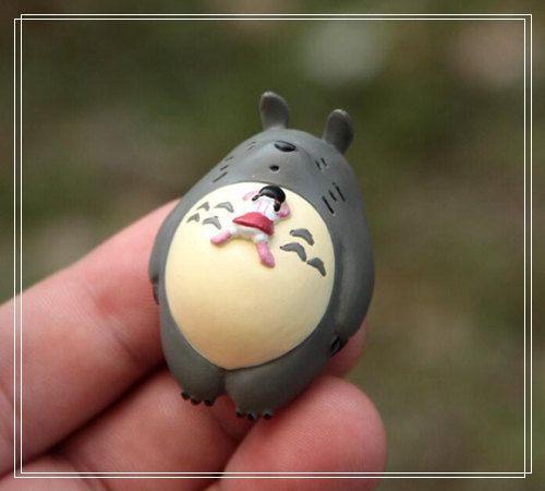 Mei Lying on Totoro Mini Figurine Home Decor Ornaments Fairy