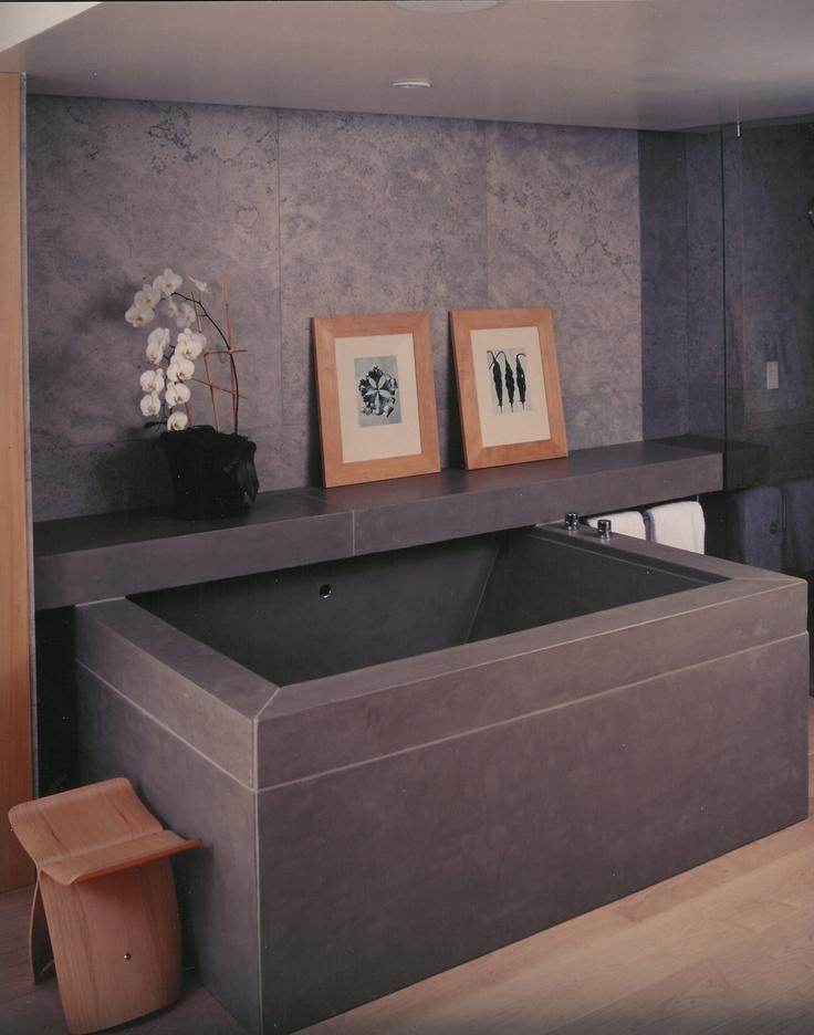 concrete bathtub surround - buddy rhodes studio | bathroom, Kuchen