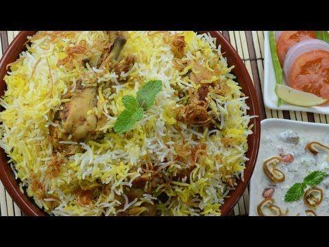 Chicken Biryani Restaurant Style - By VahChef @ VahRehVah.com - YouTube