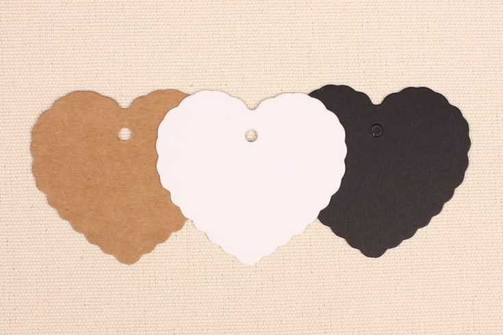 100pcs/lot Blank Heart Shape Kraft Paper Hang Tags Party Label Gift Cards Wedding Decoration - Wedding Look