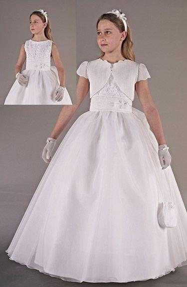 Foto Vestido Comunión Niña Modelo 3451 de Carmy 2013. Catálogo Vestidos de Comunión Carmy Colección 2013