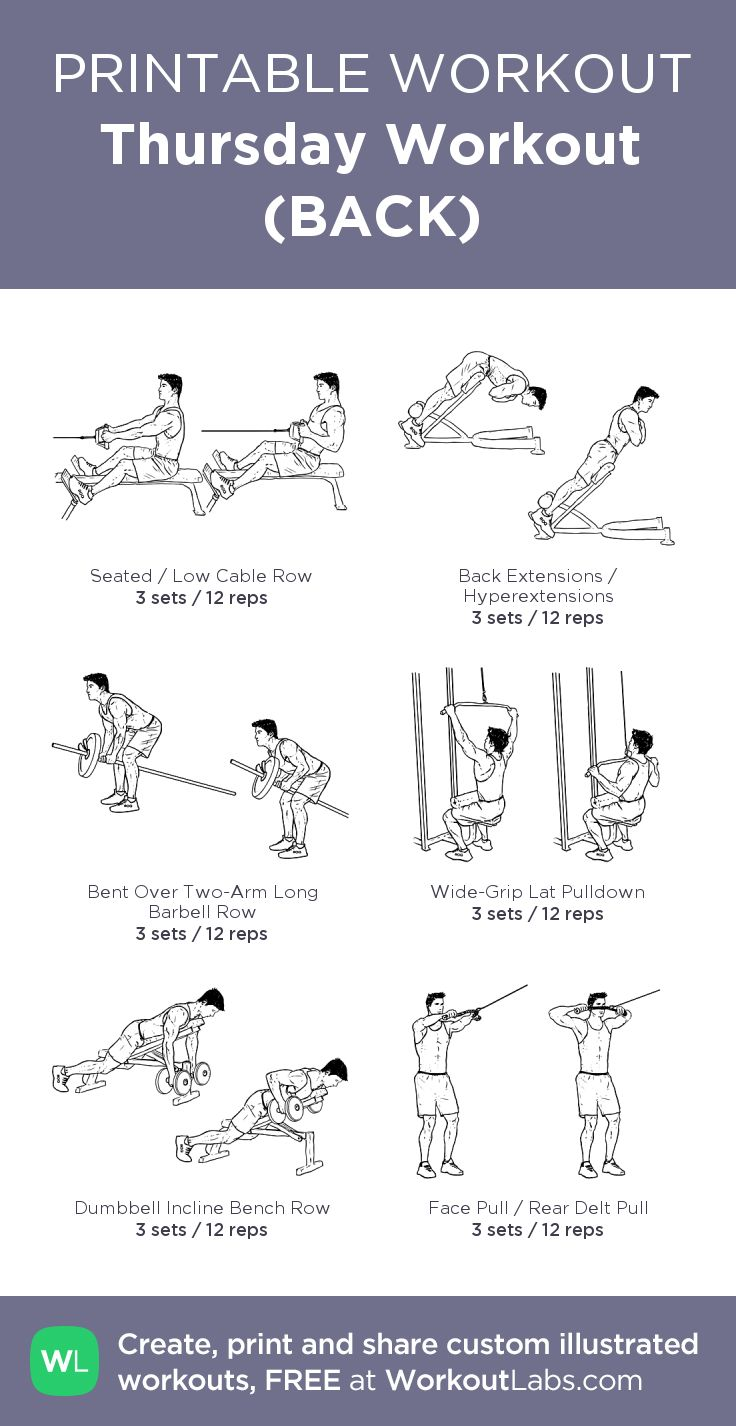 This is a graphic of Clever Printable Gym Workout