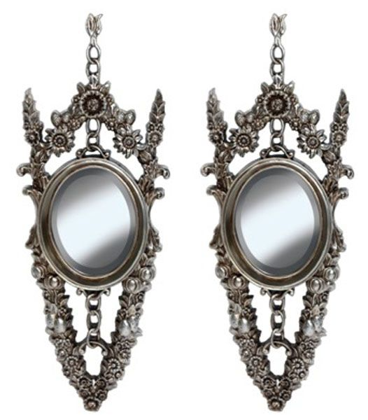 Set of 2 antique style French mirror offering lavish baroque detailing to the frame