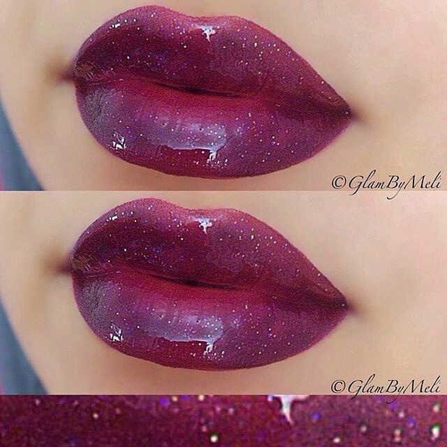 """""""repost from @glambymeli #tbt ✨ Am not a big gloss gal but this combo is just my fav for fall lip combo @beautybakerie (cranberry bites) ~ Motives by…"""""""