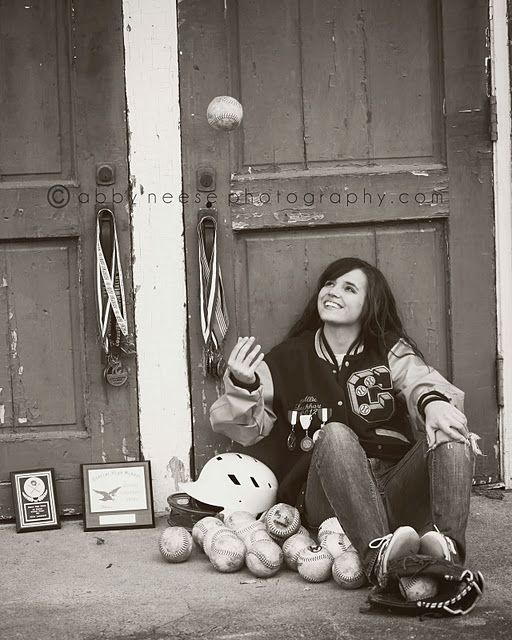 Senior Picture with awards and what not..--I have plenty of time before I have to worry about sr pic time..cool idea though