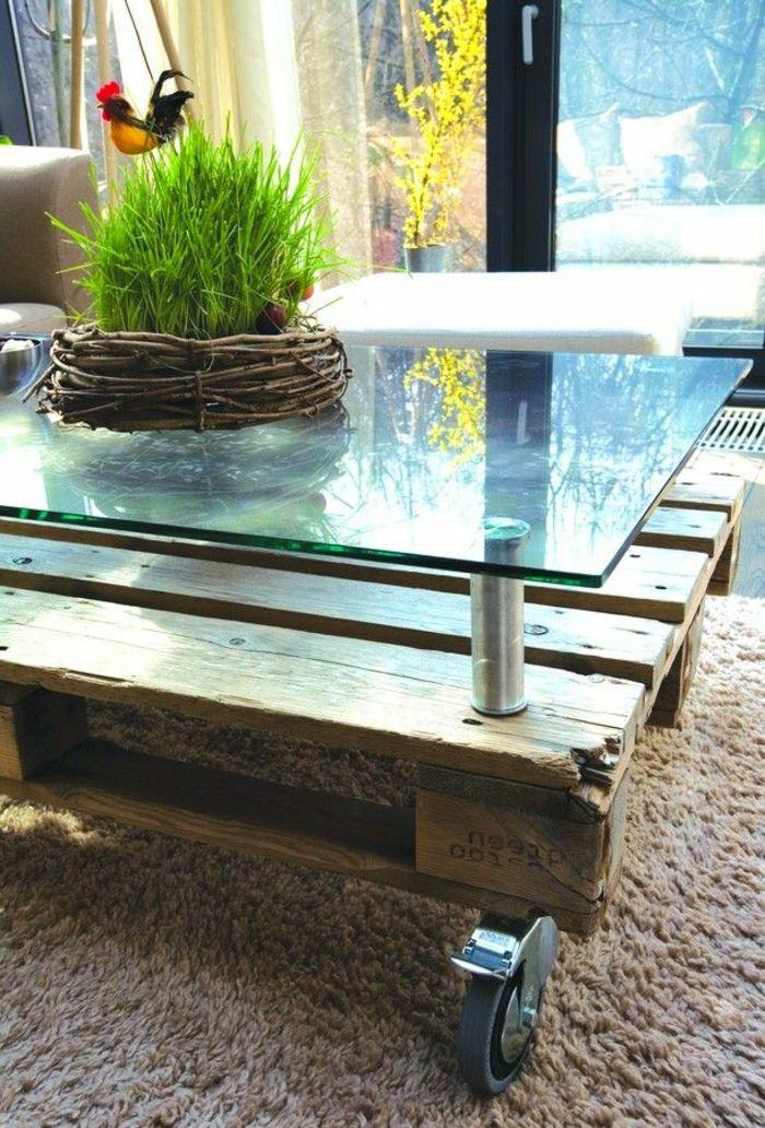 Idée de meuble pour le salon - la table basse palette