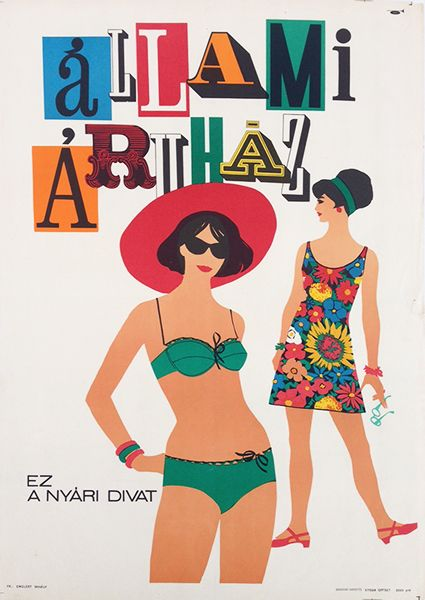 Another poster out of Hungary showing a more than passing knowledge of Western trends, I'm guessing late 60's again. Love the type and pretty much everything about this.