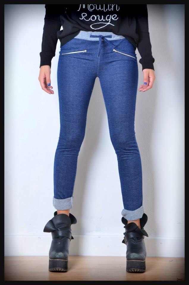 pantalon de rustico azul