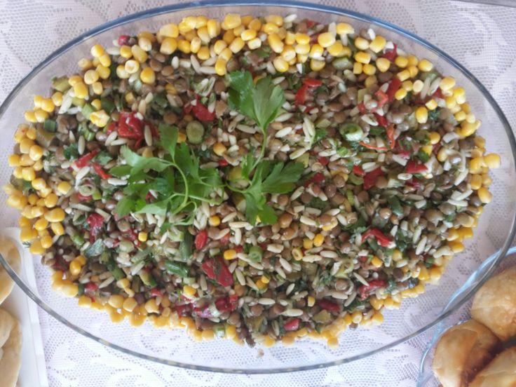 Yesil mercimek salatasi