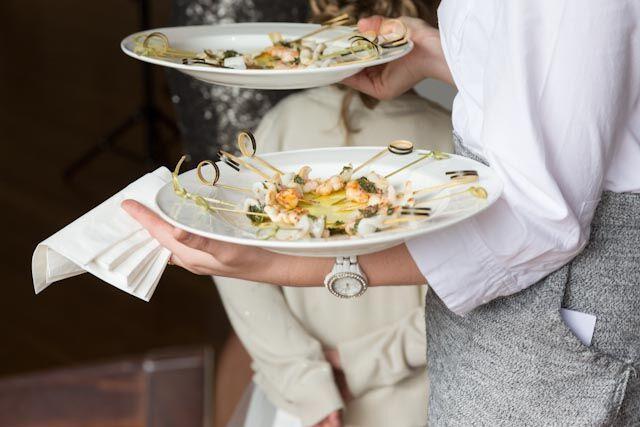 Prawn & calamari spiedini #weddingcanapes