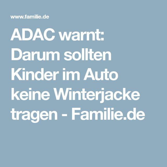ADAC warnt: Darum sollten Kinder im Auto keine Winterjacke tragen - Familie.de