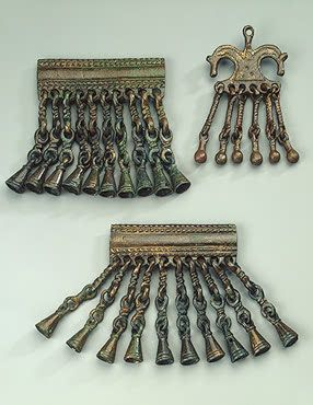 Pendants Decorated with Bells. Bronze. Lomovatka Culture. 8th century