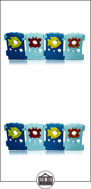 BABY VIVO Parque corralito plegable puerta robusto plastico bebe barrera de seguridad jugar - Paquete adicional 4 Elementos Sea World  ✿ Seguridad para tu bebé - (Protege a tus hijos) ✿ ▬► Ver oferta: http://comprar.io/goto/B06XFBXR13