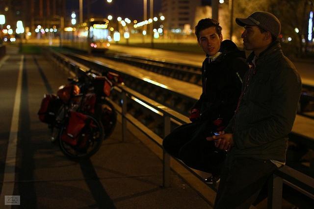 Thomas and Erik arriving in Dresden in the first week http://www.gutsforchange.de