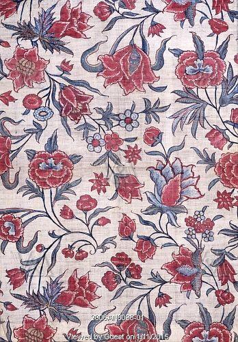 Chintz, Block Printed Cotton India 18th Century