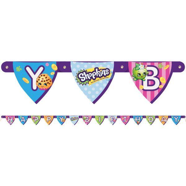 Shopkins Birthday Banner Shopkins Party Banner: Shopkins Birthday Banner