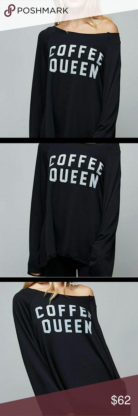 new top off shoulders loose fit coffee queen top comfortable is an understatement Swanky Coconut Tops