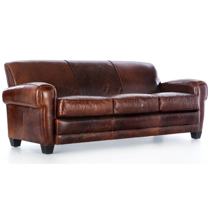 Hokku Designs Paris Clic Leather Sofa