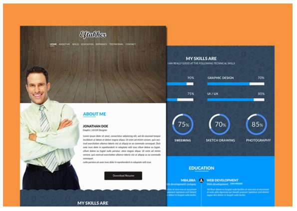 26 best 25 Free Resume PSD Website Template images on Pinterest - resume website template