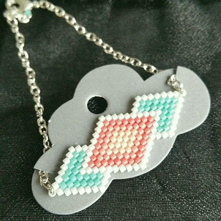 Bracelet réalisé en perles miyuki delicas