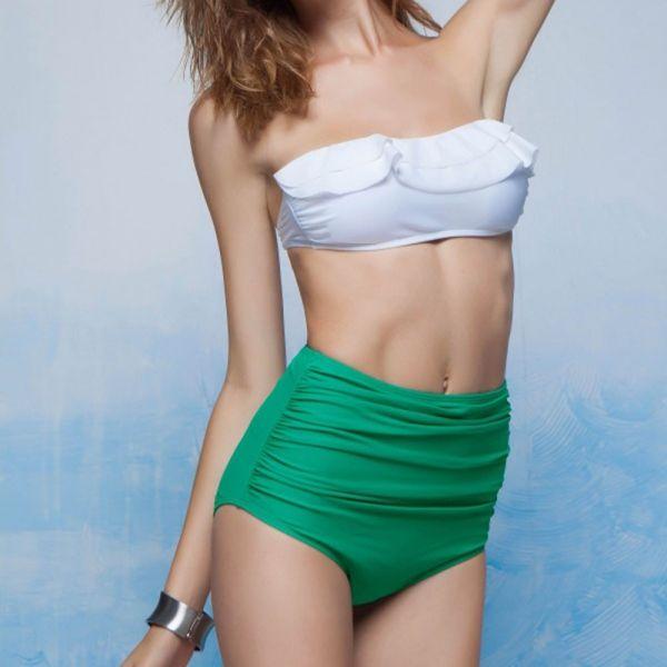 Women Sexy Bikini Set Bandeau High Waist Push-Up Swimsuit Beachwear Swimwear