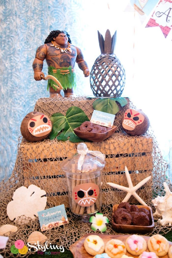 Kakamora sweets from a Moana Inspired Tropical Birthday Party on Kara's Party Ideas | KarasPartyIdeas.com (20)