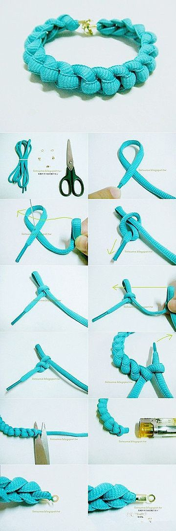 Shoe Laces Bracelet DIY Projects | UsefulDIY.com
