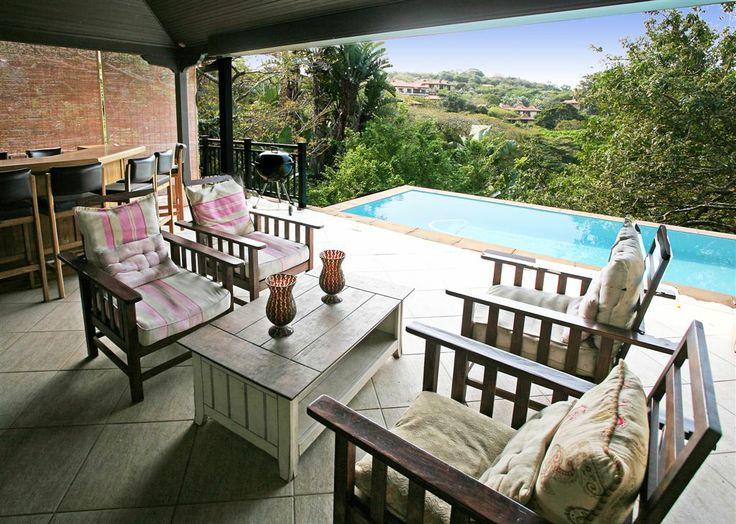 Beachwood 6. Luxury Villa, Zimabli Coastal Estate, KwaZulu Natal, South Africa. Patio with view of the Dolphin Coast