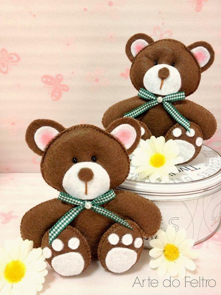 Amigas do Feltro! : Inspiração para ursinhos
