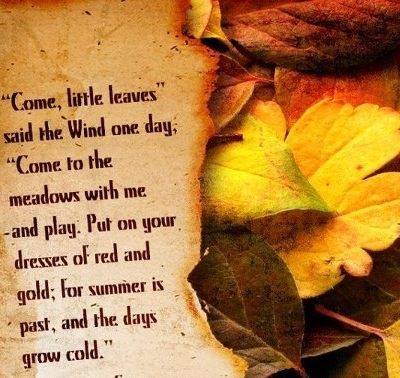 This poem is a perfect way to welcome Autumn.
