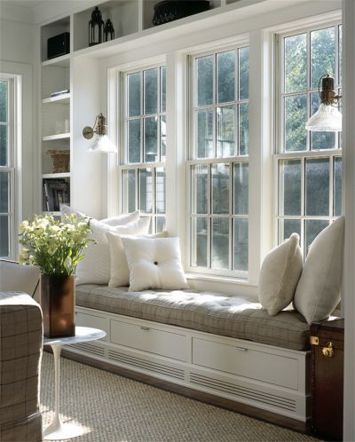 Awesome Lovely Window Seat, Windows, Built In Shelves   For Front Living Room Window ! Part 32