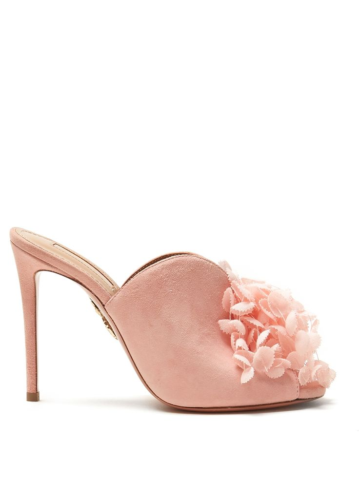 Sandals for Women On Sale in Outlet, paradise Pink, Leather, 2017, 4 Aquazzura