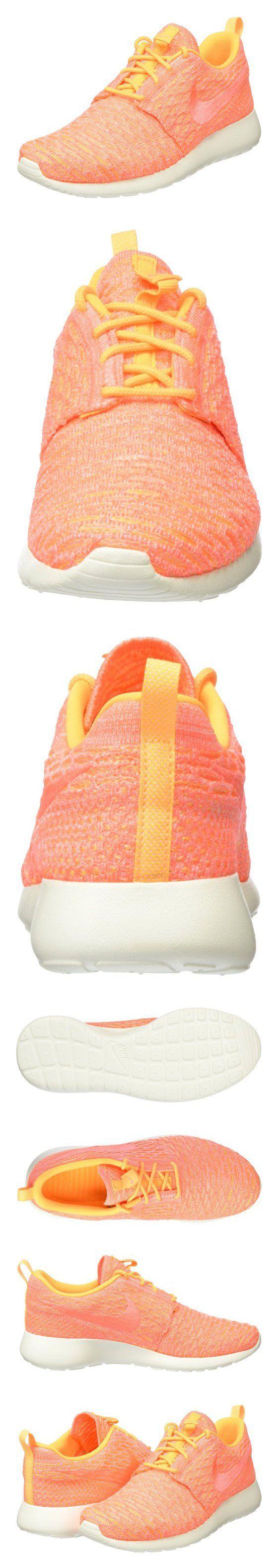 $120 - Nike Women's Roshe One Flyknit Laser Orange/Bright Mango/Sail Running Shoe 7 Women US #shoes #nike #2015