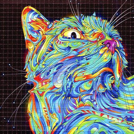 LSD Blotter Acid Art