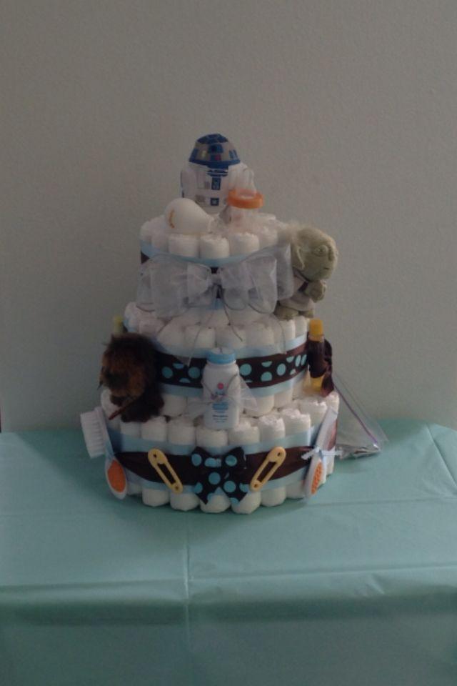 Diaper Cake For Star Wars Themed Baby Shower Let S