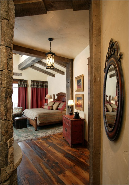 Home On The Range Interiors ~ Western Master Bedroom