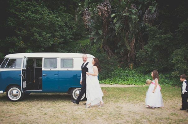 A kombi fit for a family  http://www.hellomay.com.au/article/a-family-wedding-rob-liz #wedding #car #kombi