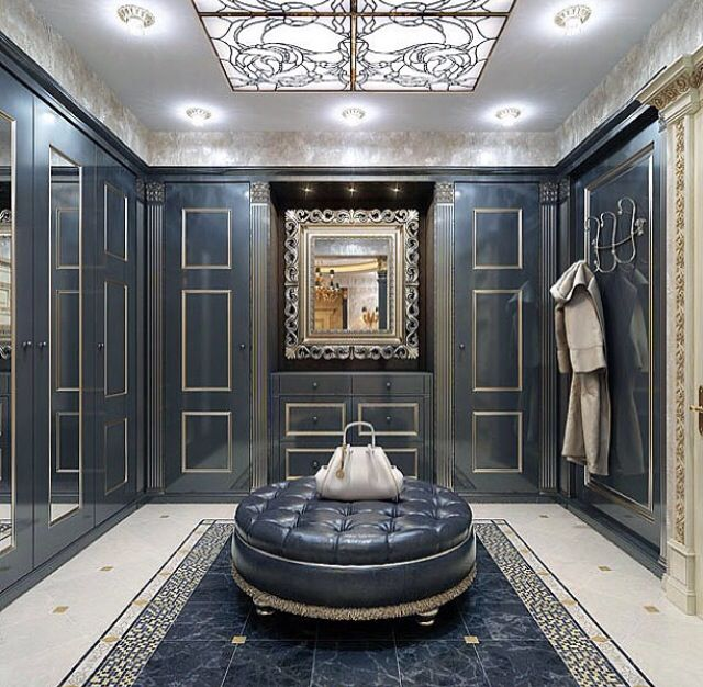stylist and luxury modern closet designs. Luxury walk in closet with vismara design frame mirror baroque style and  blue panelling 885 best Y images on Pinterest Dressing rooms Bedroom