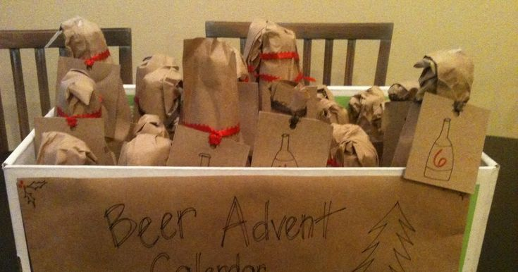 Beer Advent Calendar ... seems a bit 'off' for the meaning of Advent, but I'll definitely do 12 Days of Christmas Beers for my husband!