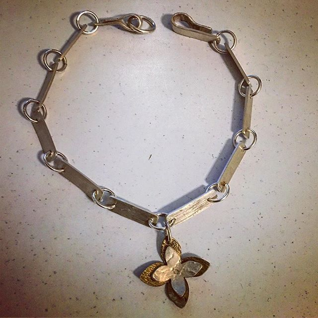 Snapshot of a #bracelet #simple #elegant #pretty #jewellerydesign #herbertandwilks #chain #design #newzealand #handmade #artjewellery #silverjewellery #feminine #artisanjewelry #links #flowers