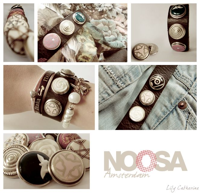 Noosa Amsterdam. Beautiful leather bracelets with changeable chunks