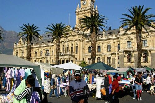 Grand Parade Market, mainly for the locals, Cape Town center, South Africa.