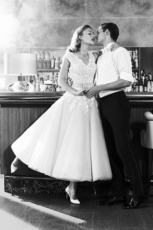 Retro bruiloft jaren '50 stijl