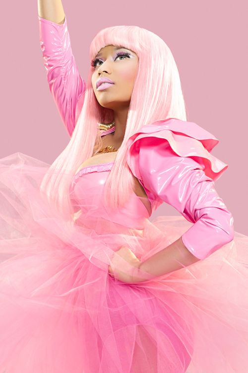 Nicki Minaj. Self confessed beautiful, black bimbo Barbie barbie.