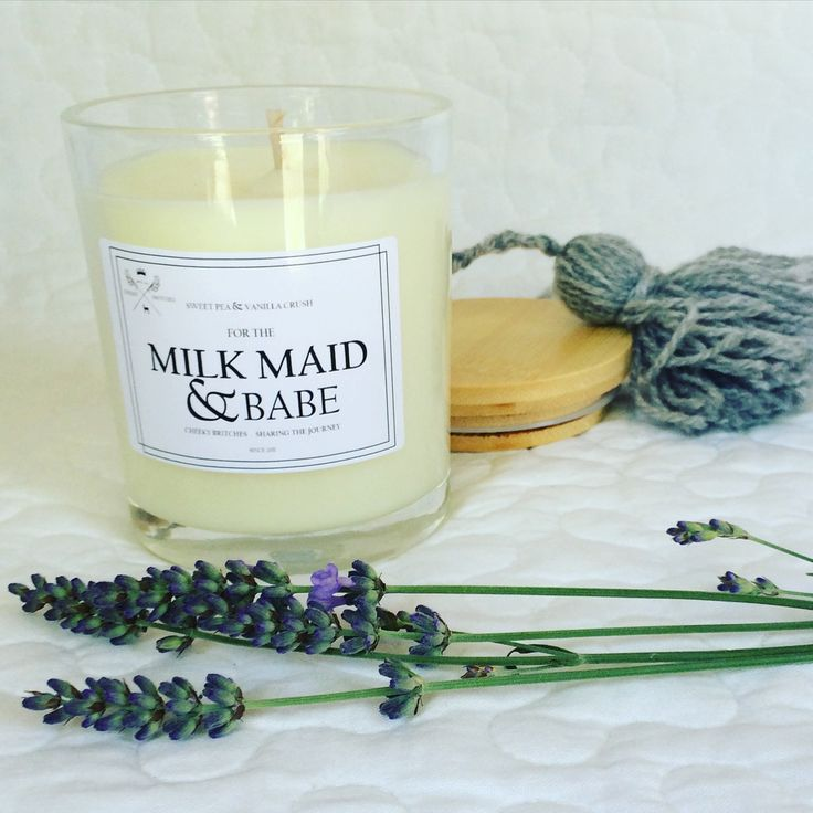 Beautiful burst of fragrance    with our new breastfeeding candles! Sweet pea + vanilla xxx