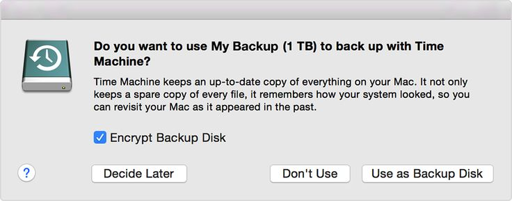 use this for information on how to use Time Machine on Mac when using external hard drive