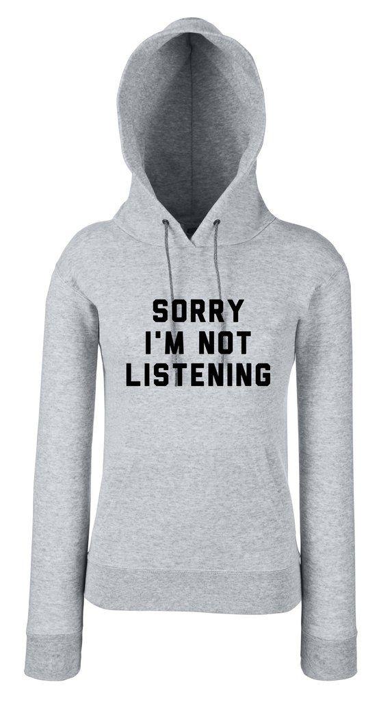 SORRY I'M NOT LISTENING női pulóver - SARCASTIC FANTASTIC
