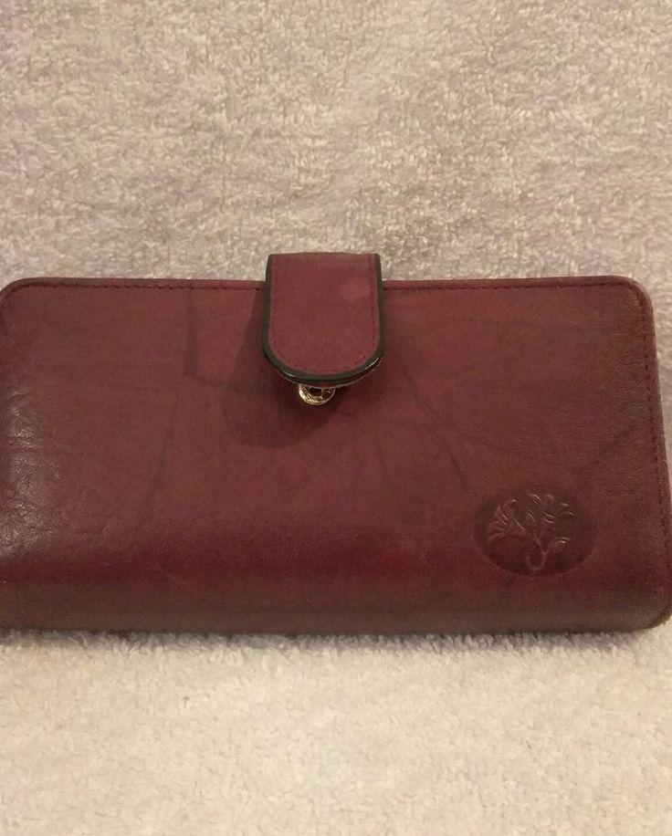 Buxton Ladies Leather Wallet Redish Brown #Buxton #IDWallet