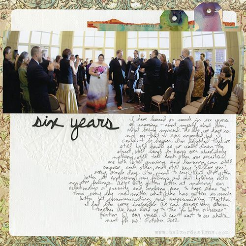 6 Years - Amazing photos.  Your dress is so beautiful - and so are you.