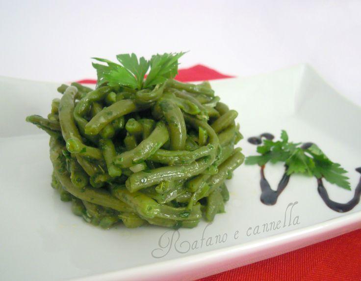 Insalata di fagiolini  http://blog.giallozafferano.it/rafanoecannella/insalata-di-fagiolini/